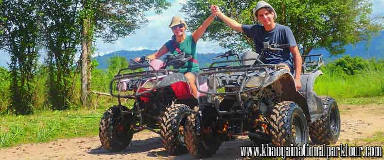 Enjoy to Car ATV riding adventure through scenic valleys, Adventure tour in Nakorn Nayok