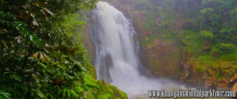 Haew Narok Water Fall Largest Beautiful Fall in Forest Jungle , Khao Yai Elephant Trekking Day Tour
