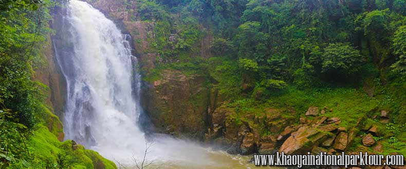 Haew Narok Waterfall in Khao Yai National Park ,Khao Yai National Park Tour from Bangkok Thailand