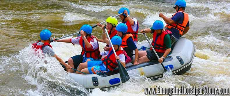 Adventure exciting trip to White water rafting around 7 kilometers along Nakhon Nayok River, Adventure Tour in Nakorn Nayok Tour