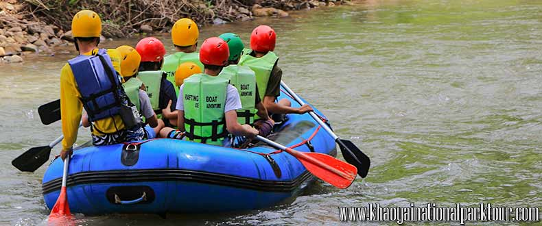 Adventure exciting trip to White water rafting around 7 kilometers along Nakhon Nayok River, Adventure Tour in Nakorn Nayok Tour