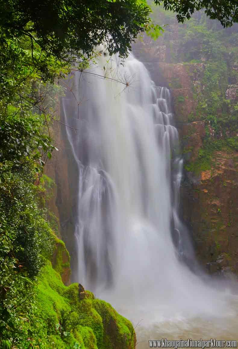 Haew Narok Waterfall or Namtok Heo Narok is the largest and highest waterfall of the park, Tourist Attraction