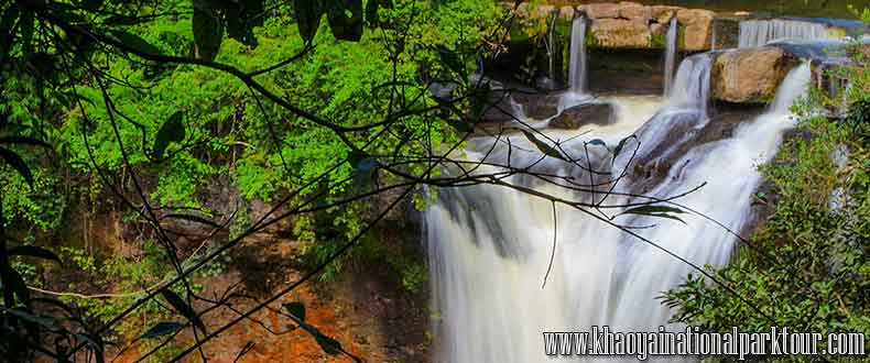 Haew Suwat Waterfall was probably the most popular waterfall in Khao Yai National Park,Thailand.Khao Yai Elephant Trekking Day Tour ,Khao Yai Tour 2 days 1 Night Tour from Bangkok