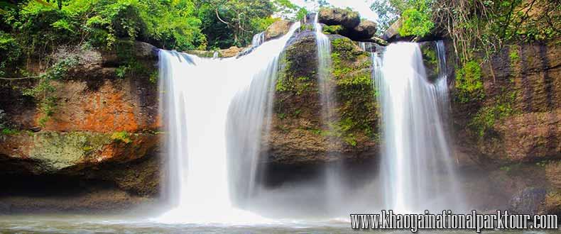 Haew suwat waterfall in Khaoyai National Park, Khoyai Trekking Tour from Bangkok